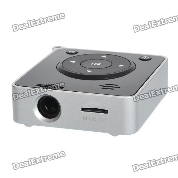 Portable Mini MP3 Music Player LCoS Projector with Micro SD/Mini USB Slot