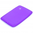 Protective Silicone Back Case for HTC Flyer - Purple