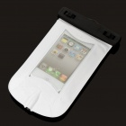 Universal Waterproof Bag Case w/ 3.5mm Earphone & Strap for Cell Phone - White