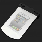 Universal Waterproof Bag Case w/ Strap for Cell Phone - White