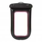 Universal Waterproof Bag Case w/ Strap for Cell Phone / MP3 / MP4 - Black + Pink
