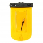 Universal Waterproof Bag Case w/ 3.5mm Earphone &amp; Strap for Cell Phone - Yellow
