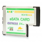 54mm Express Card to 2-Port eSATA Card Adapter for Laptop Notebook
