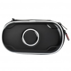 Protective PU Leather Carrying Pouch with Strap & Cleaning Cloth for PS Vita - Black
