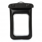 Universal Waterproof Bag Case w/ Strap for Cell Phone - Black