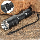 "Z6 ""1000LM"" 5-Mode Memory White LED Convex Lens Flashlight w/ Strap (1 x 18650)"