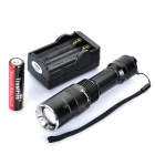 "Z6 Cree XM-L T6 ""1000LM"" 5-Mode Memory White LED Convex Lens Flashlight w/ Strap (1 x 18650)"