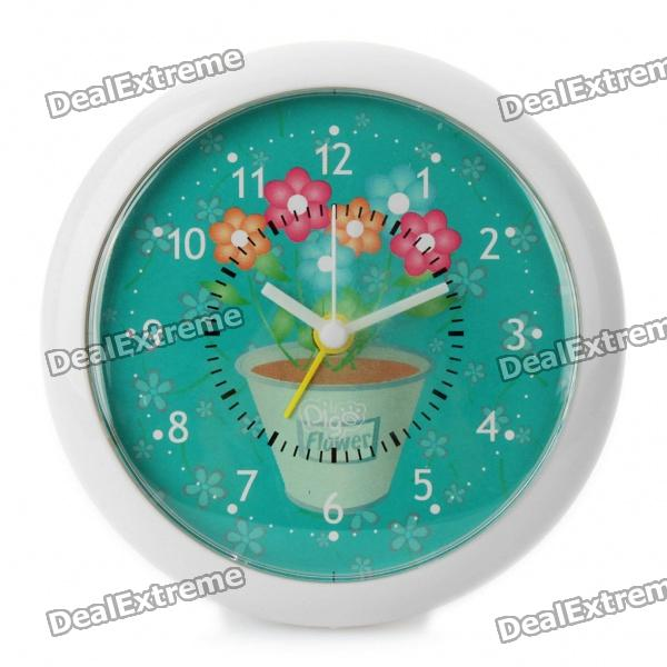 Magnetic Alarm Clock for Refrigerator - White + Blue (1 x AG13)