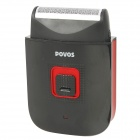 POVOS PS3206 Rechargeable Single Blade Shaver Razor - Black + Red