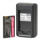 Replacement BL-5C 3.7V 2600mAh Battery w/ Charger for Nokia X2-01 + More