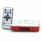 Television Multi-Media Player Box w / USB / SD / AV / YPrPb - White + Orange