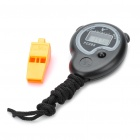 "1.1"" LCD Digital Sports Stopwatch with Whistle & Neck Loop(1 x AG13)"