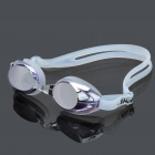 Genuine LIPHS Silicone Strap PC Lens Swimming Goggle Glasses w/ Earbuds / Nose Bridges - Purple