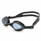 Genuine LIPHS Silicone Strap PC Lens Swimming Goggle Glasses w/ Earbuds - Black