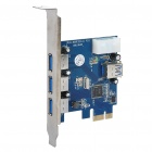 Super Speed ​​4-Port USB 3.0 PCI-E Express Card für Desktop-Computer (5 Gbps)