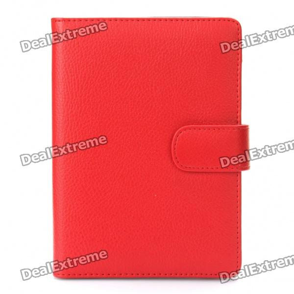 Protective PU Leather Case for Kindle Touch - Red touch and feel