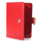 Protective PU Leather Case for Kindle Touch - Red