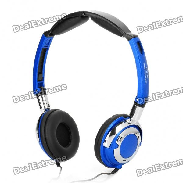 IP-CD931 Stereo Foldable Rotating Headset - Blue (128.5CM-Cable)