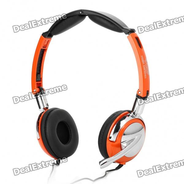 IP-CD932MV Stereo Foldable Rotating Headset w/ Microphone - Orange (182CM-Cable)
