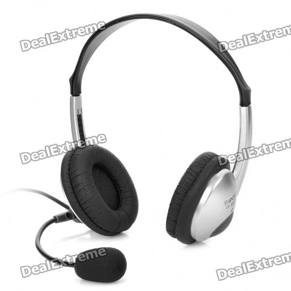 IP-M907V Stereo Headset w/ Microphone - Silver + Black (189CM-Cable)