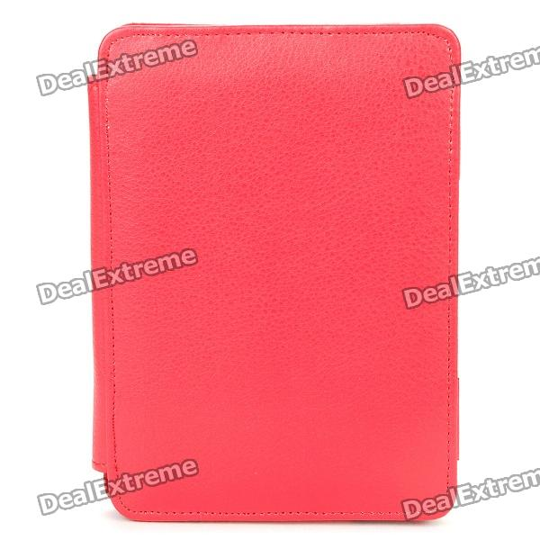 Protective PU Leather Case for Kindle 4 - Red - DXTablet Cases<br>Color: Red - Material: Lichee pattern PU leather - Specifically designed for Kindle 4 - Allows full access to all ports and buttons - Protect your device from scratches dust and shock<br>