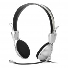 IP-M388V Stereo Headset w/ Microphone - Silver + Black (278CM-Cable)