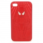 Protective Relief Spider Man Pattern PC Back Case für iPhone 4 / 4S - Red