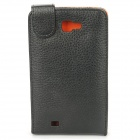 Protective PC Holder PU Leather Case for Samsung i9220 - Black