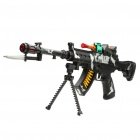 Cool Machine Gun Toy with Red Laser / Vibration / Yellow Light / Sound Effect (3 x AA)