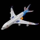 A380 Airbus Airplane Toy with Colorful Lights & Sound Effect - White + Red (3 x AA)