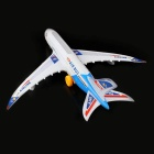 A380 Airbus Airplane Toy with Colorful Lights & Sound Effect - White + Blue (3 x AA)