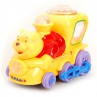 Cute Winnie Car Toy w/ Music / Light Effects (3 x AAA)