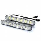 6W 12000mcd 6-LED White Light Car Daytime Running Lamps (DC 12V / Pair)