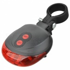 Waterproof 2 Straight Lines Red Laser + 3-Mode 3-LED Bike Tail Warning Safety Light (2 x AAA)