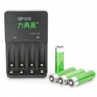 GP 1.2V 2000mAh Ni-Mh AA Batteries w/ Charger (4-Pack)