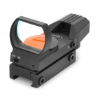Tactical 4-Reticle 33mm Light-Operated Red Dot Rifle Scope - Black