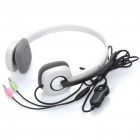 LOGITECH H150 Stylish Headphones w/ Micro Phone - White (3.5mm-Plug / 178cm-Cable)