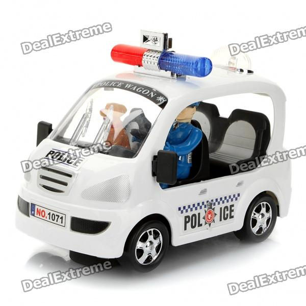 City Police Car Toy with Red/Blue Light & Sound Effect (3 x AA) - Free ...