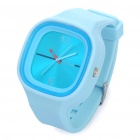 Sports Silicone Band Quartz Wrist Watch - Blue (1 x 377)