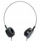 Stylish Headset Headphone with Microphone - Black (3.5mm Jack)