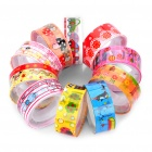 Cartoon Pattern Plastic Colorful Decorative Tape (10-Piece Pack)