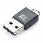 Mini USB 2.0 Micro SD / TF Card Reader - Black (Max. 32GB)