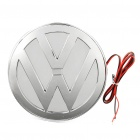 3D Volkswagen / VW Logo Badge White Brake Light - Silver (DC 12V)
