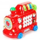 Intellectual Development Train Head Toy w/ Sound / Light Effect (3 x AA)