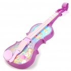 Electric Violin Toy w/ Music / Light Effect - Purple + Blue