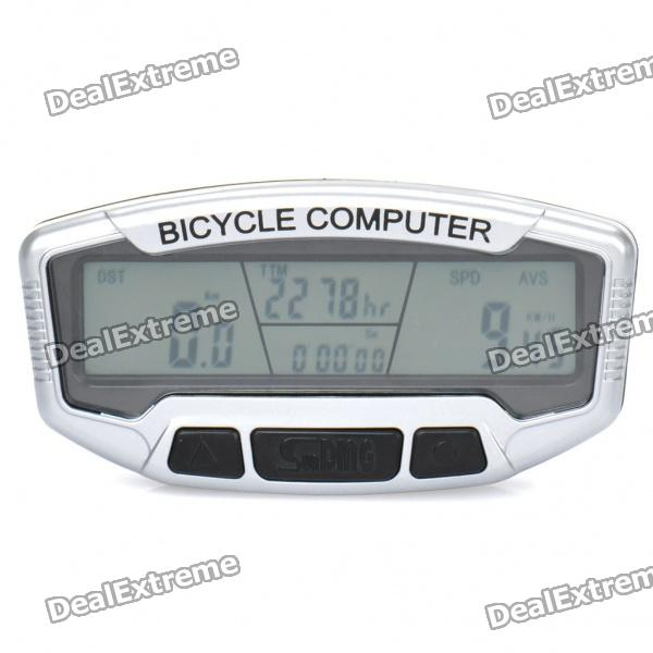 Sunding 2.8 LCD Electronic Bike Bicycle Speedometer - Black + SilverBike Computer<br>Model:Material:Form  ColorODBattery TypeCR2032 batteryPacking List<br>