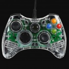 Designer's USB Wired Dual-Shock Game Controller w/ 7-LED Green Light for PC / Xbox 360 (180cm-Cable)