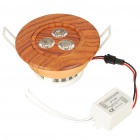 3W 3500K 270-Lumen 3-LED Warm White Light Ceiling Lamp w/ Driver - Brown (AC 85~260V)
