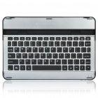 Aluminum Alloy Bluetooth V3.0 78-Key Keyboard for Samsung P7510 / P7500 - Silver + Black