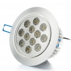14W 12-LED 810LM 6000-7000K White LED Ceiling Light (AC 100-240V)